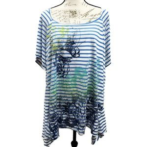 Faded Glory Plus Size Graphic Tee 4X (26/28)